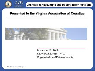 Presented to the Virginia Association of Counties