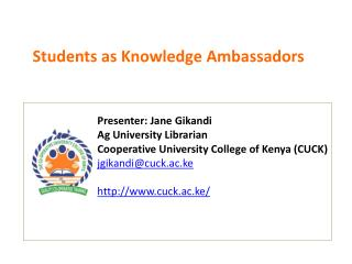Students as Knowledge Ambassadors