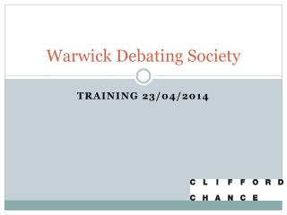 Warwick Debating Society