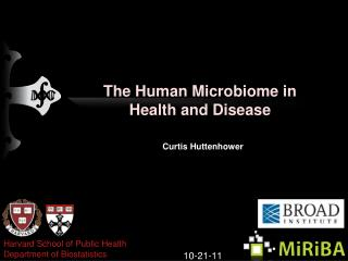 The Human  Microbiome  in Health and Disease