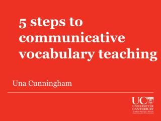 5 steps to communicative  vocabulary teaching