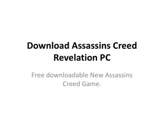 Download Assassins Creed Revelation PC