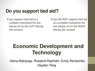 Do you support tied aid?
