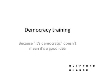 Democracy training