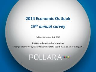 2014 Economic Outlook 19 th  annual survey