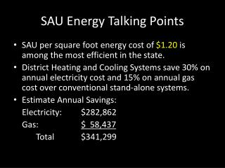 SAU Energy Talking Points