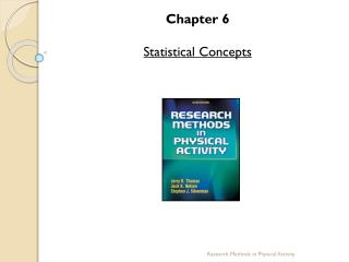 Chapter 6 Statistical Concepts