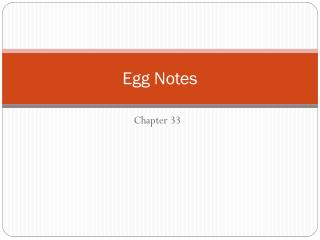 Egg Notes