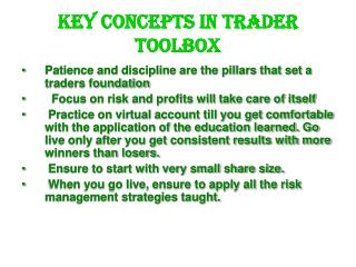 Sean Seshadri Key Concepts in Trader Toolbox