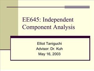 EE645: Independent Component Analysis