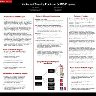 Overview for the MATP Program