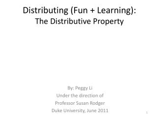 Distributing (Fun + Learning): The Distributive Property