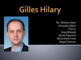Gilles Hilary