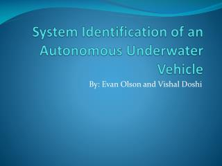 System Identification of an Autonomous Underwater Vehicle