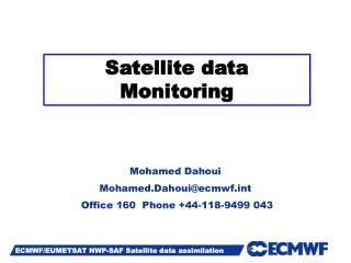 Satellite data Monitoring