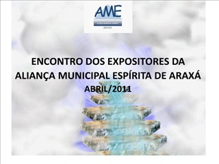 ENCONTRO DOS EXPOSITORES DA  ALIAN A MUNICIPAL ESP RITA DE ARAX  ABRIL
