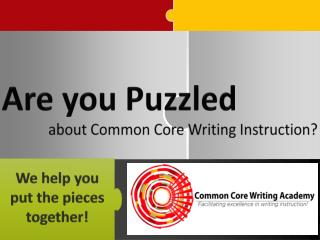 about Common Core Writing Instruction?