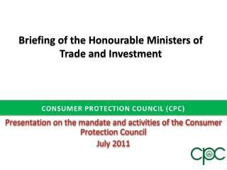 CONSUMER PROTECTION COUNCIL (CPC)