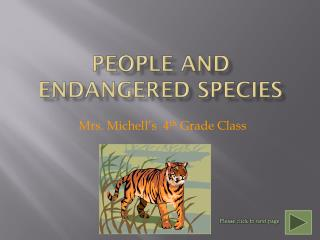 People and Endangered Species