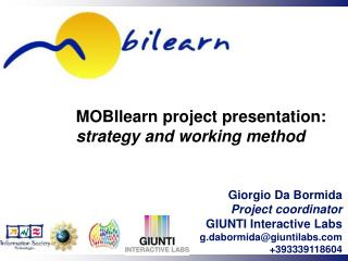 MOBIlearn project  presentation:  strategy and working method
