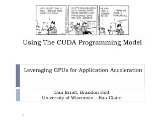 Using The CUDA Programming Model