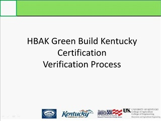 HBAK Green Build Kentucky Certification Verification Process