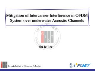 Mitigation of  Intercarrier  Interference in OFDM System  over underwater Acoustic Channels