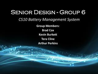 Senior Design - Group 6