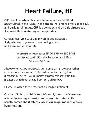 Heart Failure, HF
