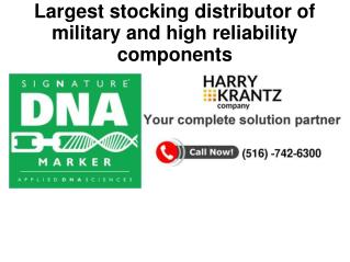 Largest stocking distributor of electronic components
