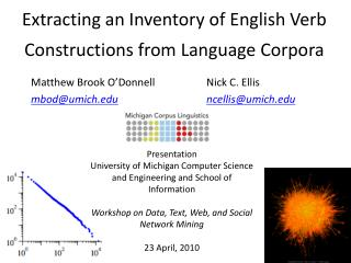 Extracting  an Inventory of English Verb Constructions from Language Corpora