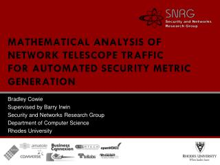 Mathematical analysis of network telescope traffic for automated security metric generation