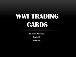 WWI Trading Cards