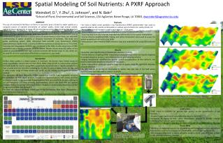 Spatial Modeling Of Soil Nutrients: A PXRF Approach