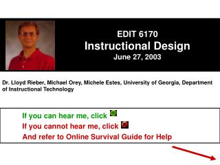EDIT 6170 Instructional Design June 27, 2003