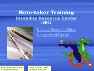 Note-taker Training Disability Resource Center (DRC)