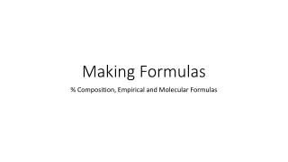 Making Formulas