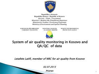 System of air quality monitoring in Kosovo and QA/QC  of data
