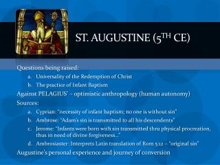 St.  augustine  (5 th  CE)