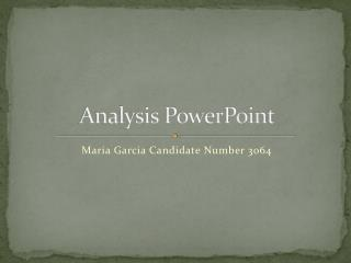 Analysis PowerPoint