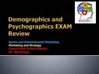 Demographics and  Psychographics EXAM Review