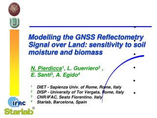 Modelling the GNSS  Reflectometry  Signal over  Land: sensitivity to soil moisture and biomass