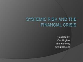 Systemic Risk and the Financial Crisis