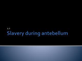 Slavery during antebellum