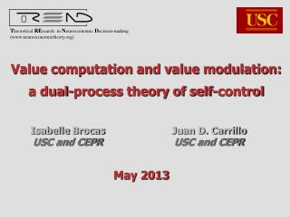 Value computation and value modulation:  a dual-process theory of self-control