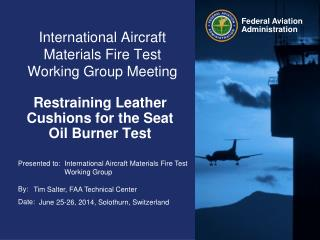 International Aircraft Materials Fire Test Working Group Meeting