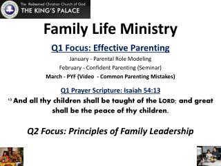 Family Life Ministry