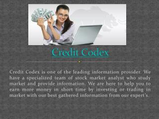 Credit Codex Financial Tips