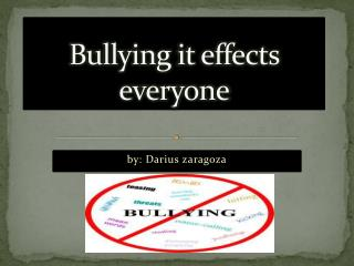 Bullying it effects everyone