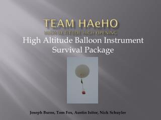Team  HA e HO High Altitude High Opening